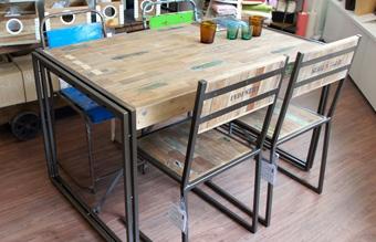 フェルムインダストリアルダイニング テーブル1500