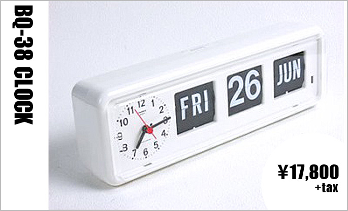BQ-38 WALL&TABLE CLOCK ホワイト BQ-38