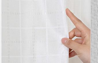 Check プリーツカーテン【1.5倍ひだ】 (幅:111−210cm)